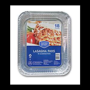 Berkley & Jensen Lasagna Pans - 18 Pack