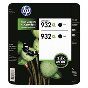 HP 932XL High Yield Original Black Ink Cartridge - Twin Pack