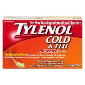 Tylenol Cold & Flu Severe Caplet - 3x24 Pack