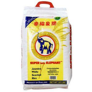 Lucky Elephant Jasmine Rice 25 lb.