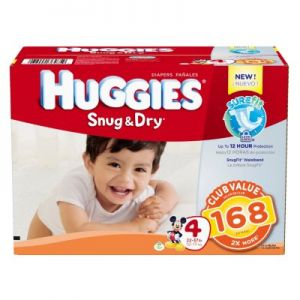 Huggies Snug & Dry Diapers Size 4- 168 ct