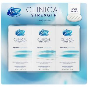 Secret Clinical Deodorant Light and Fresh Scent - 1.6oz 2 pack + 0.5oz - 3 Pack Total