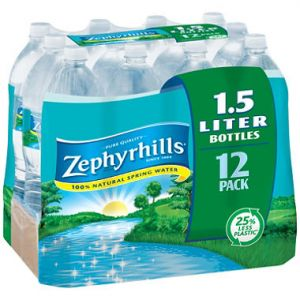 Zephyrhills Natural Spring Water 1.5 Liter Bottle - 12 Pack