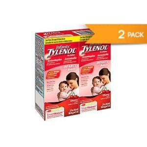 Infants Tylenol Acetaminophen Cherry flavor. 2 OZ / 2 PK