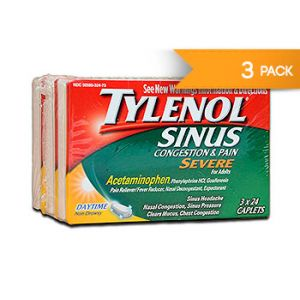 Tylenol Severe Sinus congestion & pain. 24 CT / 3 PK