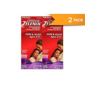 Children´s Tylenol Acetaminophen Grape splash flavor. 4 OZ / 2 PK
