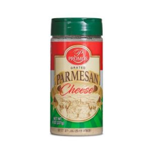 PROMOS PARMESAN GRATED CHEESE. 12/8OZ.