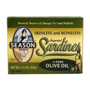 Season Skinless & Boneless Sardine 5-3.75 OZ