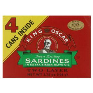 King Oscar Sardines/Oil 4/3.75 OZ