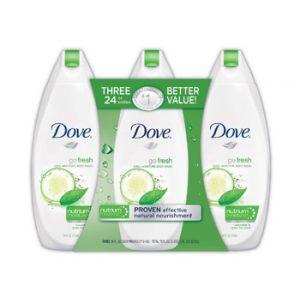 Dove Go Fresh Cool Moisture Body Wash 24 oz - 3 Pack