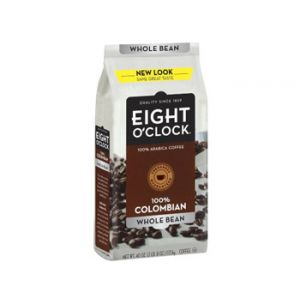 Eight O'clock Columbian Wholebean Coffee 40oz