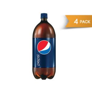 4 Pack - Pepsi Cola 2 Liter Bottles