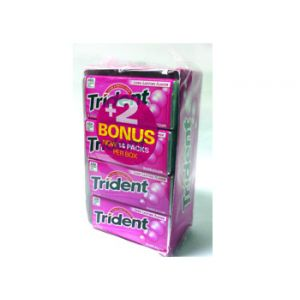 Trident Bubble Gum Bonus Pk 14ct