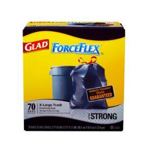 Glad Forceflex Xlarge Trash Bag 70 Count 33 Gallon
