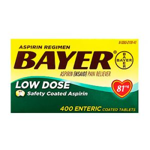 Bayer AR Low dose Safety Enteric coated aspirin. 81 mg / 400 CT