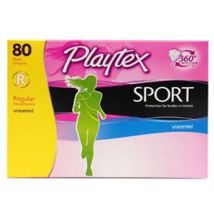 Playtex Sport Tampons - 80 Pack