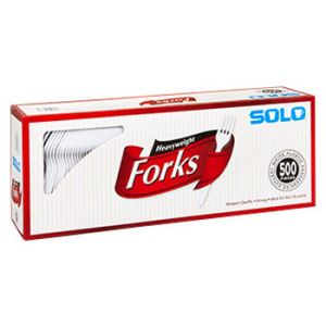 Solo Heavyweight Plastic Fork White - 500 Pack