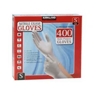 KIRKLAND SIGNATURE NITRILE EXAM GLOVES SMALL - 400 PACK