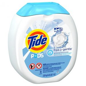 Tide Pods Free & Gentle Detergent - 90 Pacs