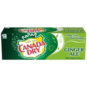 Canada Dry Ginger Ale 12 oz Cans - 12 Pack