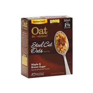 Better Oats Oat Revolution! Steel Cut Oats Maple & Brown Sugar 10 ct