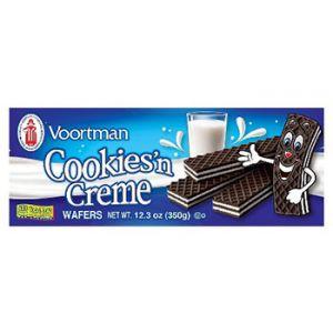 Voortman Cookies And creme wafers 12.3 OZ