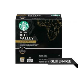Starbucks Rwanda Rift Valley Medium Roast Coffee K-Cups 16 ct