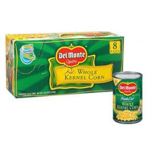 Del Monte Whole Kernel Corn 15.25oz - 12 Pack