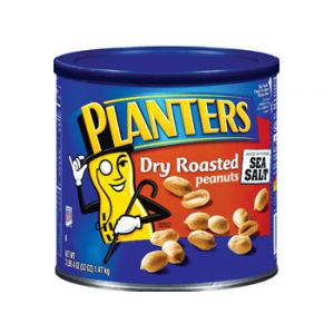 Planters Salted Dry Roasted Peanuts 52 oz