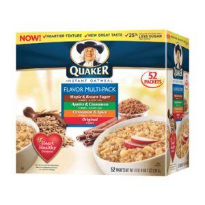 Quaker Insantt Oatmeal Variety Value Pack - 52 ct
