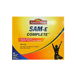 Nature Made. SAM-E complete. Coated tablets. 400 mg /  60 CT