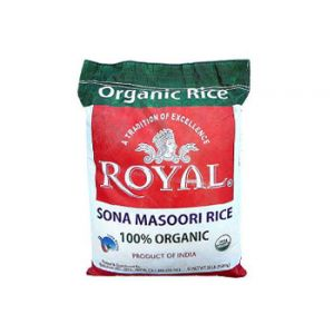 Royal Organic Sona Masoori Rice 20 LB.