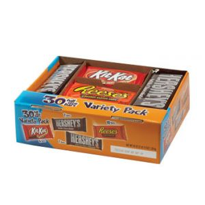 Hershey  Chocolate Variety 45.8oz/bars 30 ct
