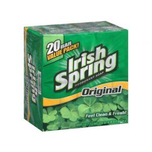 Irish Spring Bar Soap 3.75 oz- 20 Pack