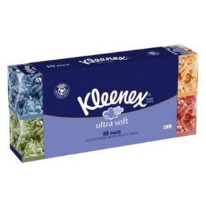 10 Pack - Kleenex Ultra Cube Facial Tissue 3 Ply 75 ct