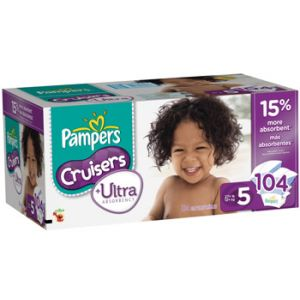 Pampers Cruisers Ultra Size 5 104 ct