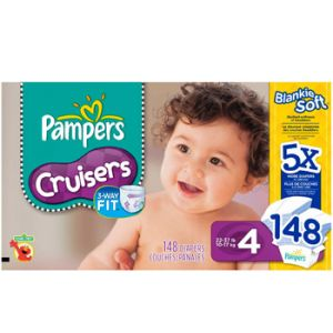 Pampers Cruiser Diapers Size 4 148ct