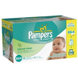 Pampers Natural Unscented Wipes 864ct