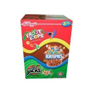 Kellogg's Froot Loops, Cocoa Crispies, Apple Jacks 58.0 Total Ounce. Three Bag Value Box.