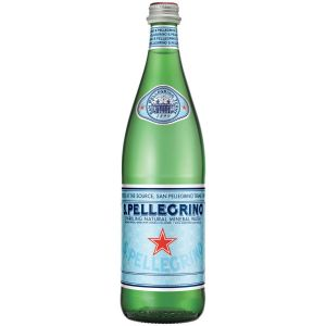 San Pellegrino Sparking Natural Mineral Water 500ml Glass Bottles - 24 Pack