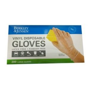 Berkley & Jensen Disposable Vinyl Gloves 200CT. Large