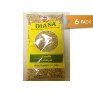 Diana Dry Lentil Beans 12 oz - 6 Pack