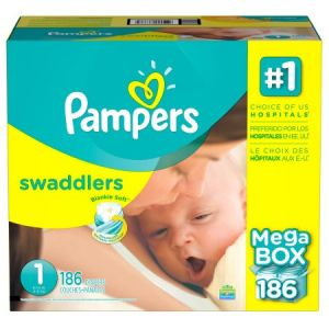 Pampers Swaddler Diapers Size 1 186 CT
