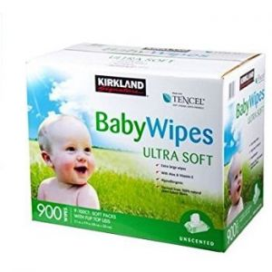 Kirkland Premium Baby Wipes Refill 900 ct