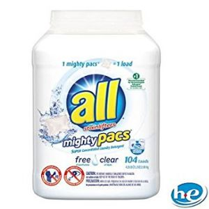 All Free & Clear Mighty Pacs. 120 Count