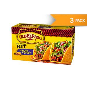 Old El Paso. Stand 'N Stuff, Taco dinner kit. 8.8 OZ / 3 PK