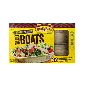 Old El Paso. Stand 'N Stuff, Taco boats. 32 CT