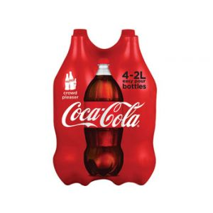 4 Pack- Coca Cola 2 Liter Bottles