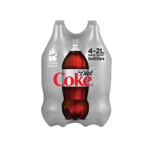 Diet Coke 2 Liter Bottles - 4 Pack