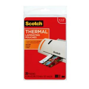 Scotch Thermal Laminating Pouches 4x6 80ct